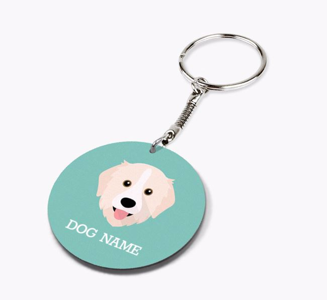 Personalised Great Pyrenees Icon Keyring