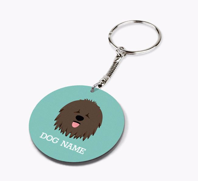 Personalised Hungarian Puli Icon Keyring