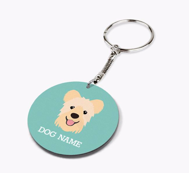 Personalised Hungarian Pumi Icon Keyring