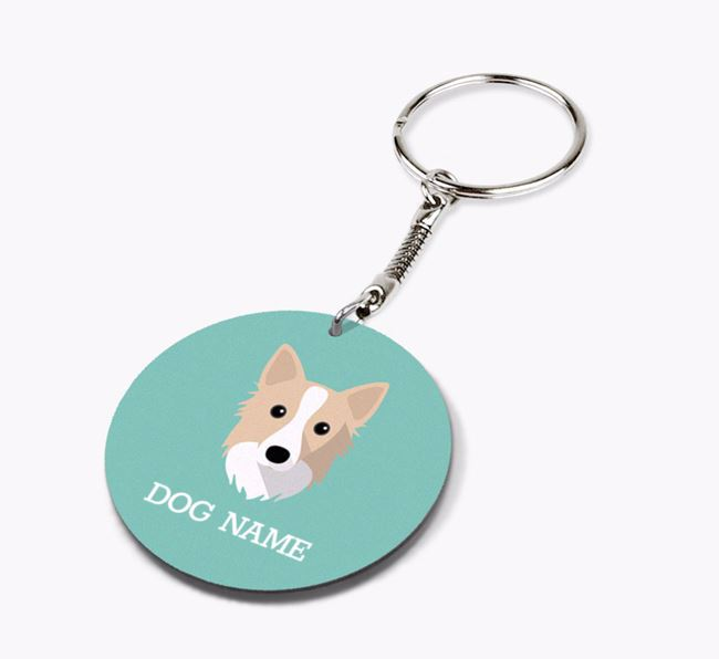 Personalised Icelandic Sheepdog Icon Keyring
