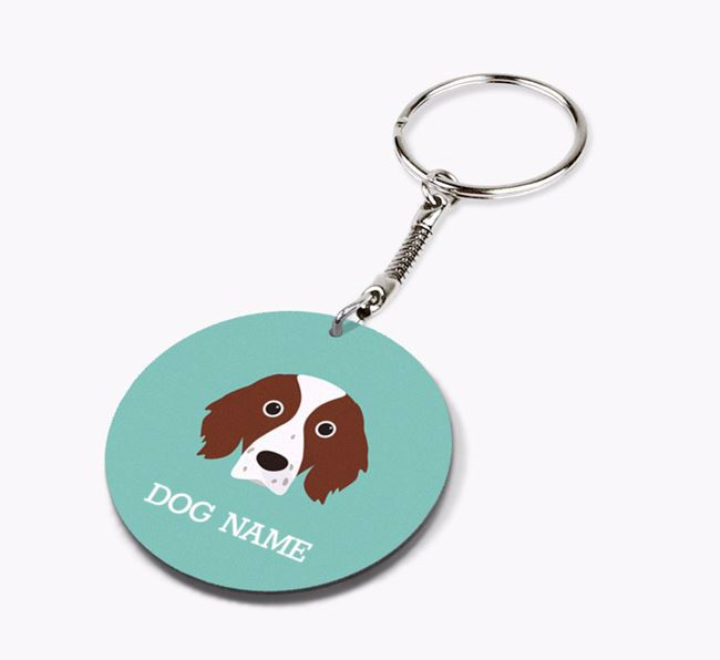 Personalised Irish Red & White Setter Icon Keyring