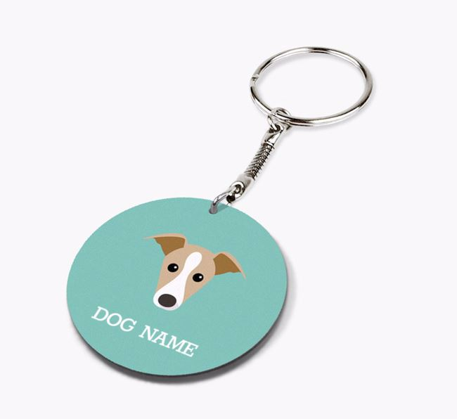 Personalised Italian Greyhound Icon Keyring