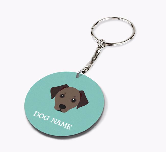 Personalised Jackshund Icon Keyring