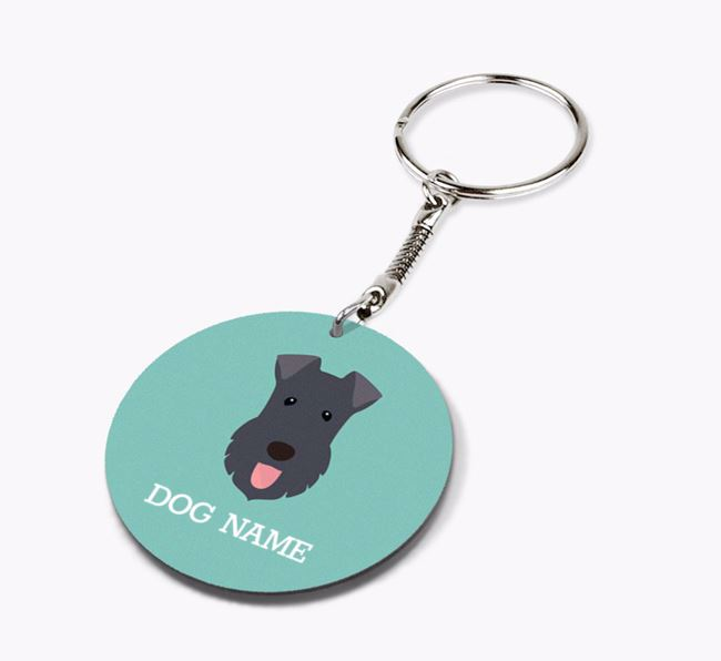 Personalised Kerry Blue Terrier Icon Keyring