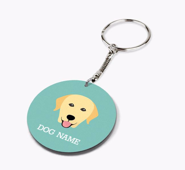 Personalised Labrador Retriever Icon Keyring