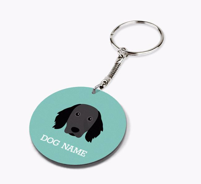 Personalised Large Munsterlander Icon Keyring