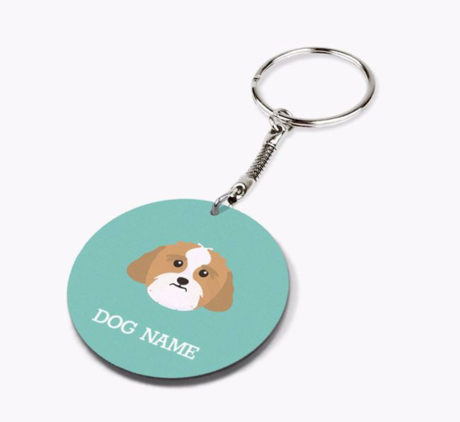 Personalised Lhasa Apso Icon Keyring