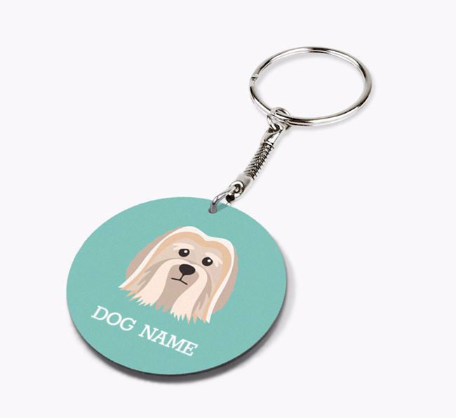Personalised Löwchen Icon Keyring