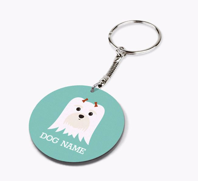 Personalised Maltese Icon Keyring