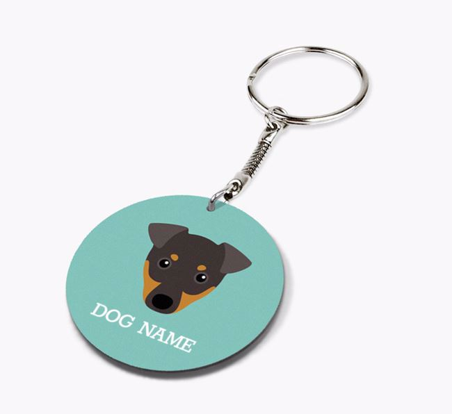 Personalised Manchester Terrier Icon Keyring