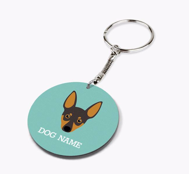 Personalised Miniature Pinscher Icon Keyring