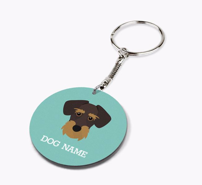 Personalised Miniature Schnoxie Icon Keyring