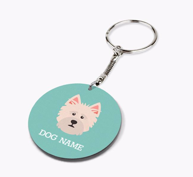 Personalised Norwich Terrier Icon Keyring