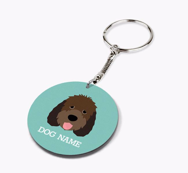 Personalised Otterhound Icon Keyring