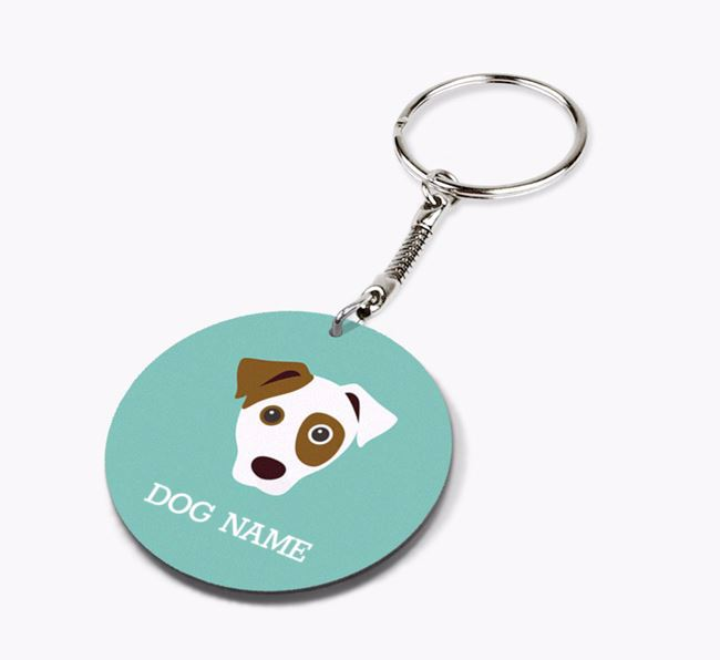 Personalised Parson Russell Terrier Icon Keyring