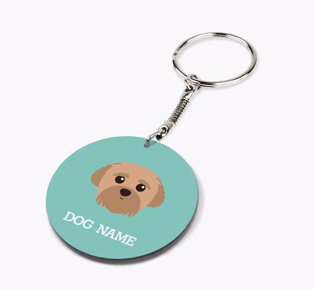 Personalised Peek-a-poo Icon Keyring
