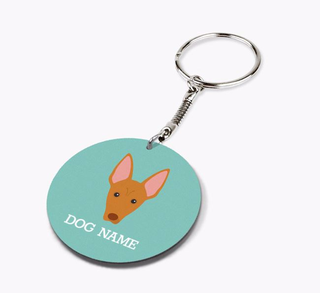 Personalised Pharaoh Hound Icon Keyring