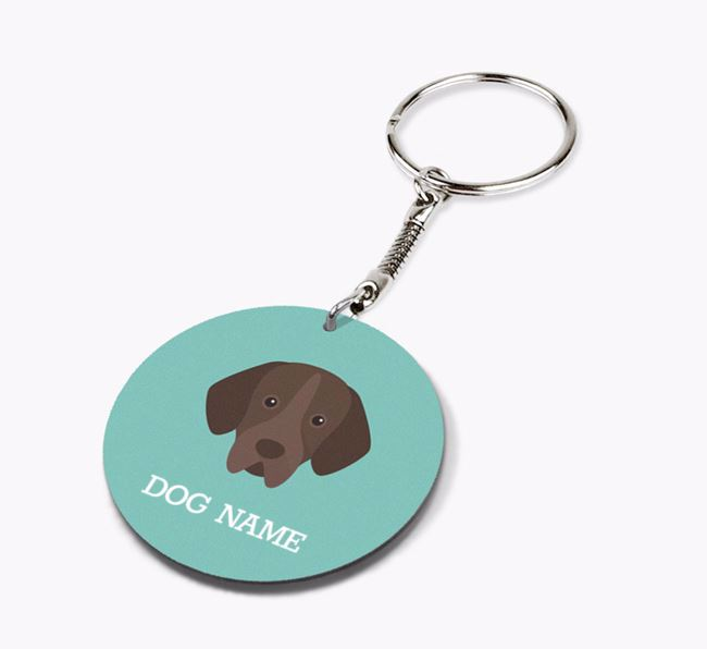 Personalised Portuguese Pointer Icon Keyring