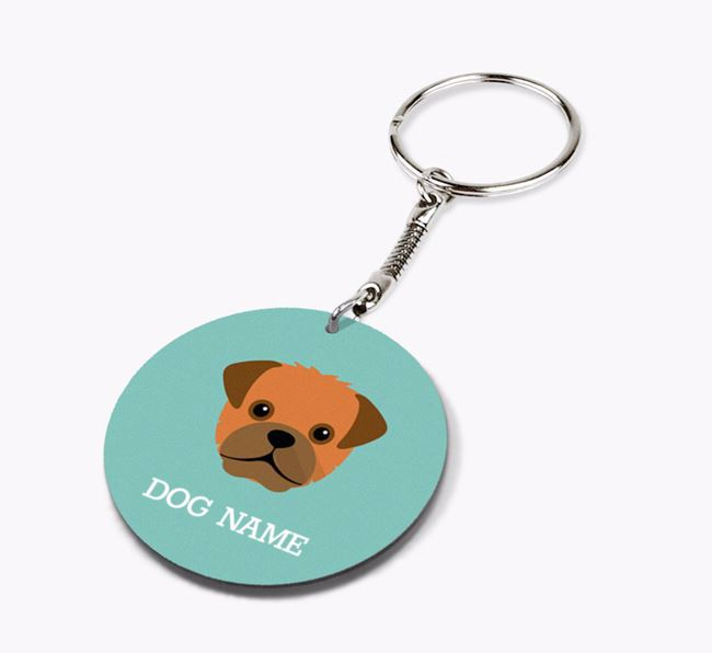 Personalised Pugapoo Icon Keyring