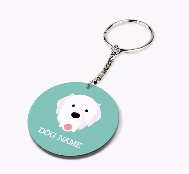 Personalised Pyrenean Mastiff Icon Keyring