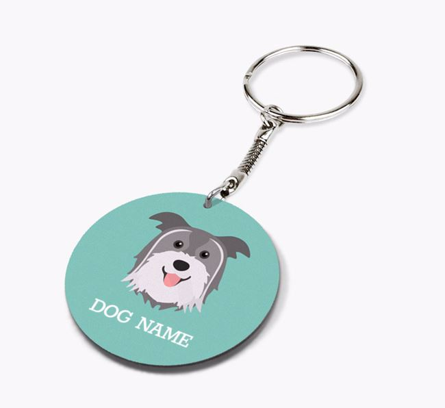 Personalised Pyrenean Shepherd Icon Keyring