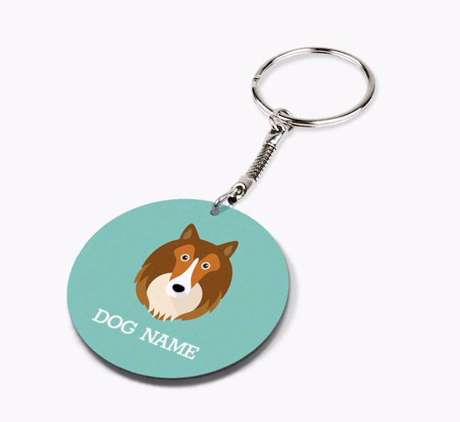 Personalised Rough Collie Icon Keyring