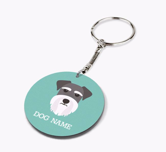 Personalised Schnauzer Icon Keyring