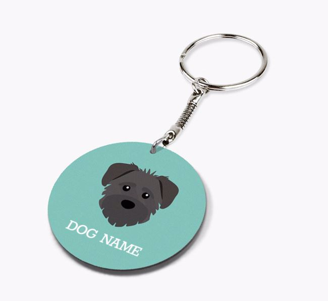 Personalised Schnoodle Icon Keyring