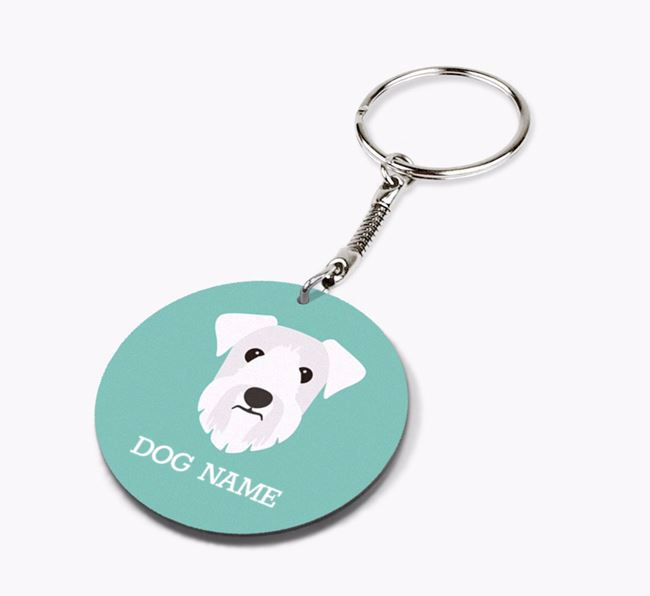 Personalised Sealyham Terrier Icon Keyring