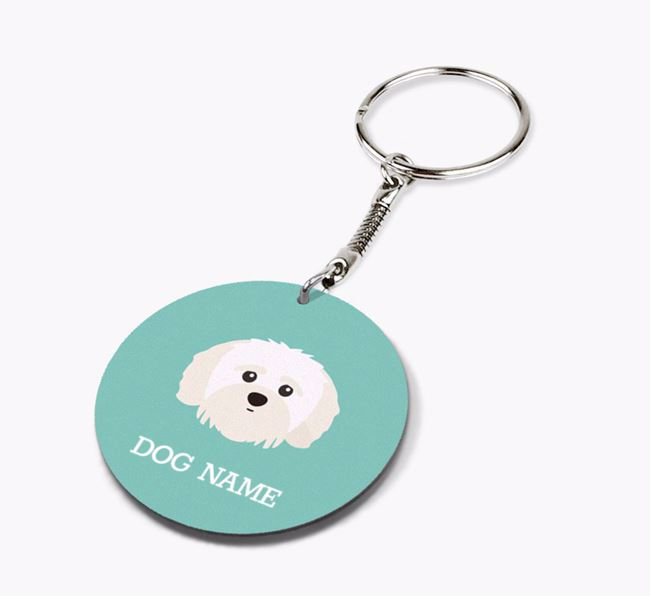 Personalised Shih-poo Icon Keyring