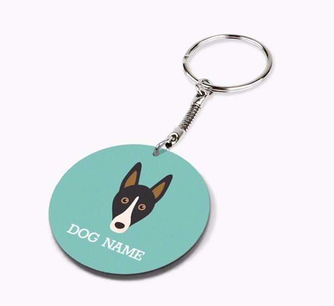 Personalised Smooth Collie Icon Keyring
