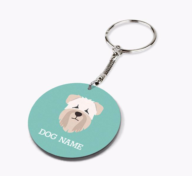 Personalised Soft Coated Wheaten Terrier Icon Keyring