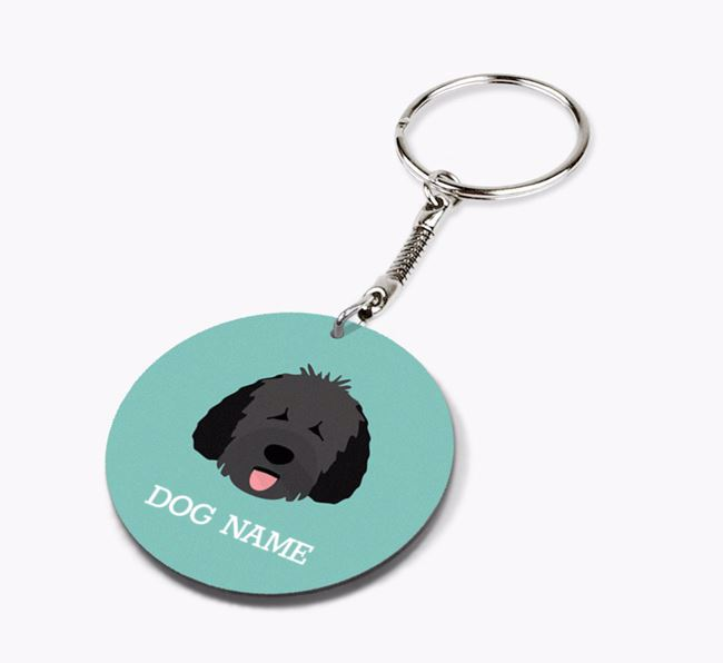 Personalised Spanish Water Dog Icon Keyring