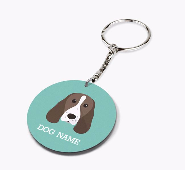 Personalised Springer Spaniel Icon Keyring