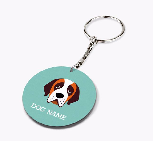 Personalised St. Bernard Icon Keyring