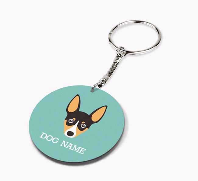 Personalised Toy Fox Terrier Icon Keyring
