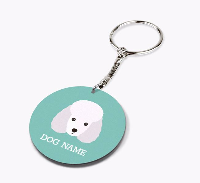 Personalised Toy Poodle Icon Keyring
