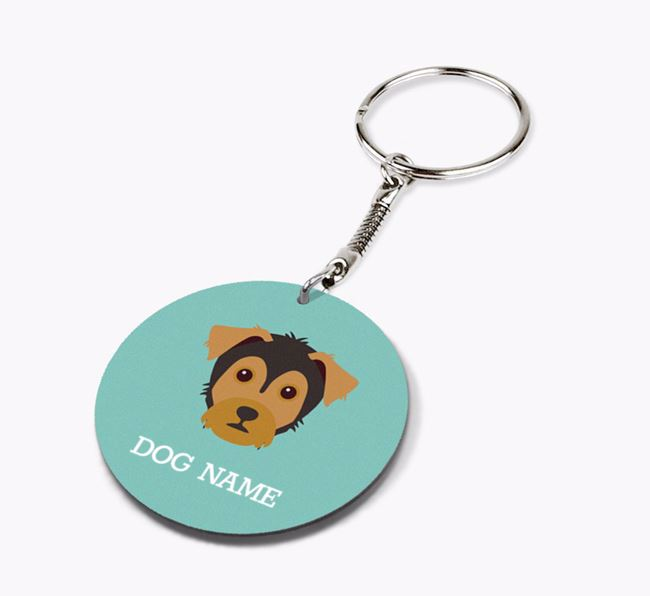 Personalised Yorkie Russell Icon Keyring