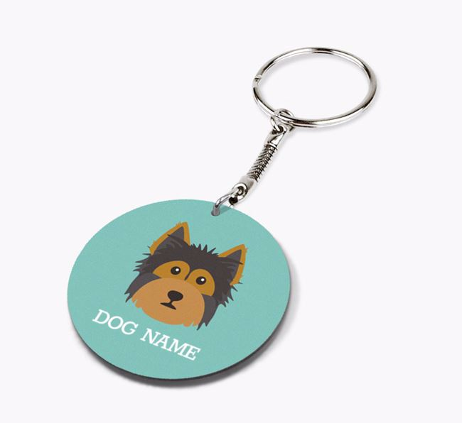 Personalised Yorkshire Terrier Icon Keyring