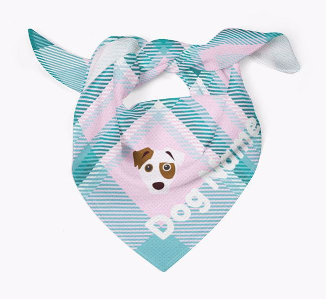 Personalised Tartan Dog Bandana for