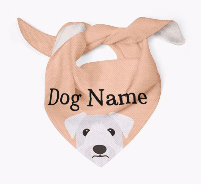 Personalised Dog Bandana with Peeking Yappicons for