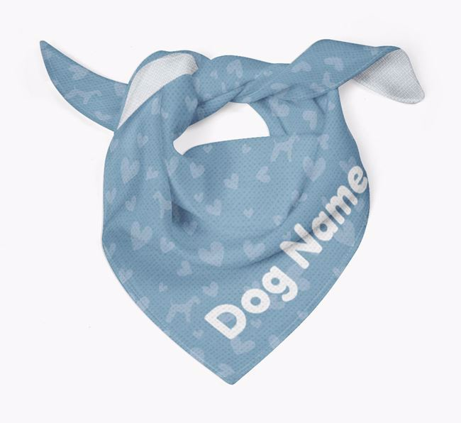 Dog Bandana with Silhouettes & Hearts for