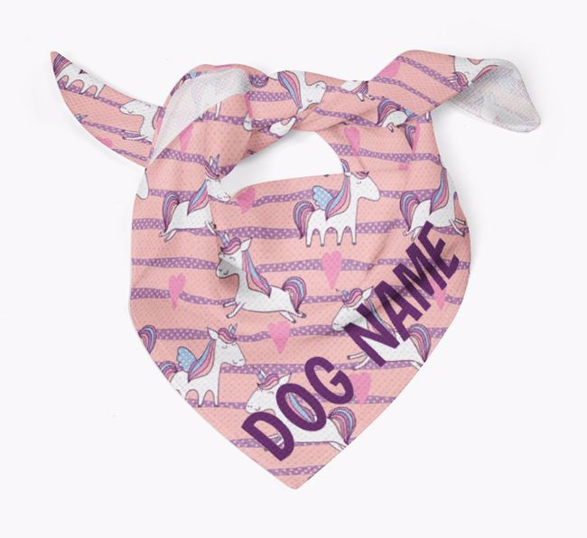 Dog Bandana with Unicorn Pattern for