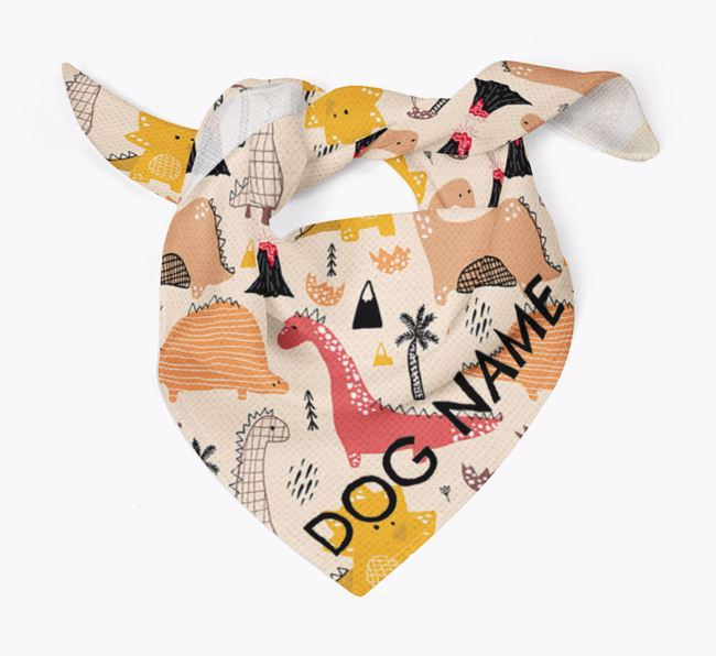 Dog Bandana with Dinosaur Pattern for