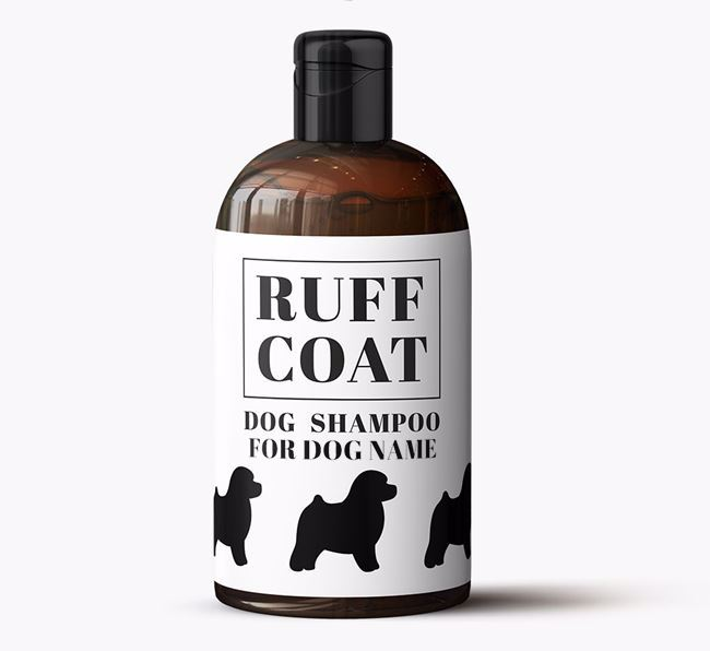 Personalised Dog Shampoo 'Ruff Coat' for