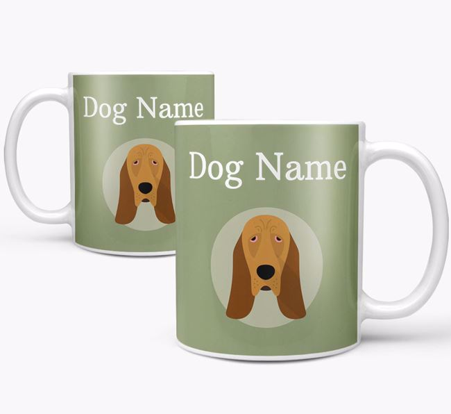 Personalised Bloodhound Mug
