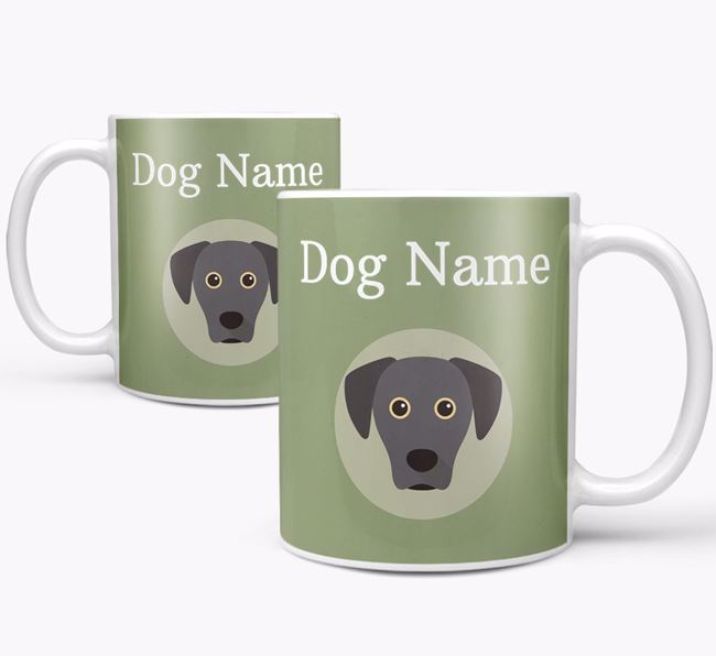Personalised Blue Lacy Mug