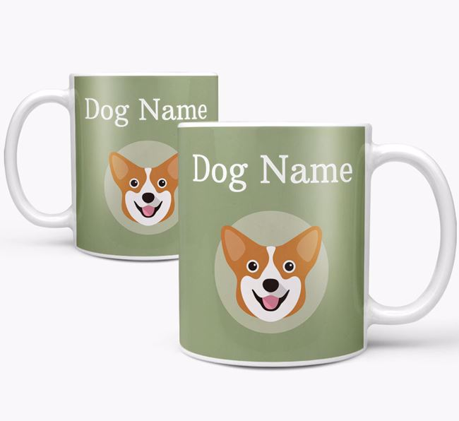 Personalised Corgi Mug