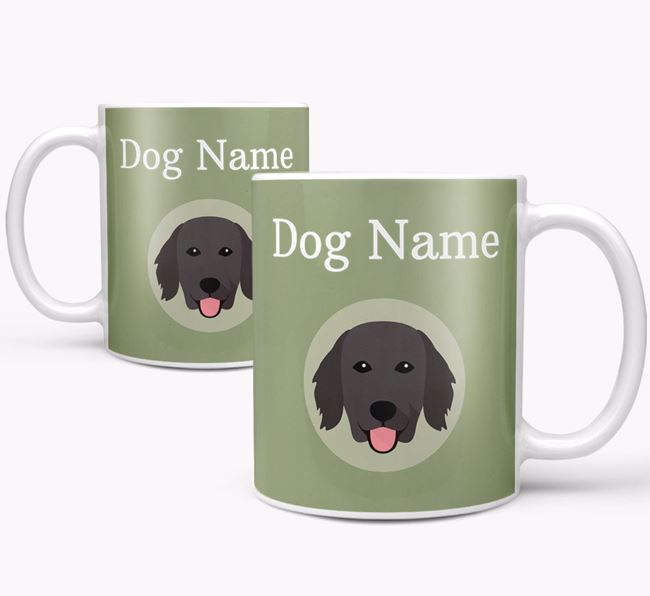 Personalised Flat-Coated Retriever Mug