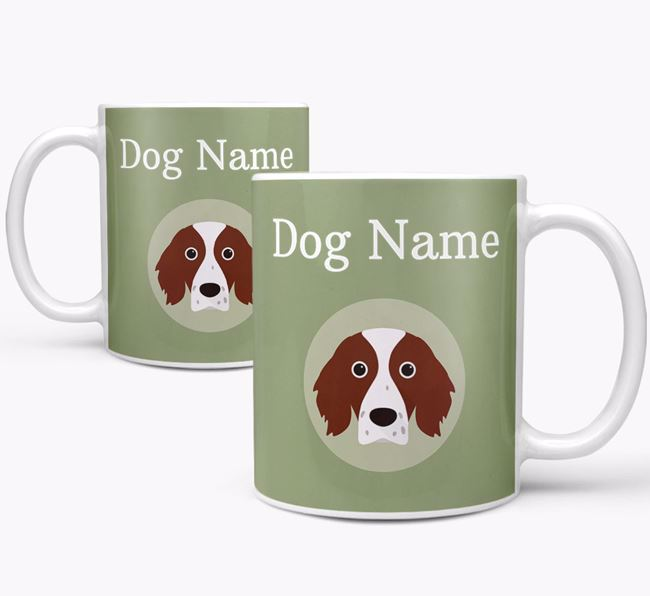 Personalised Irish Red & White Setter Mug